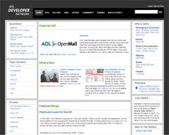 Drupal-CMSで制作されたサイト:AOL