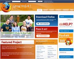 Drupal-CMSで制作されたサイト:firefox