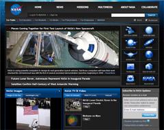 Drupal-CMSで制作されたサイト:NASA